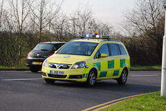 London Ambulance Service / Vauxhall Zafira / Rapid Response Car / 7374 / LJ56 YVV (Chris' Transport Pics) Tags: life road uk las blue light england london film car speed forest hospital lights nikon bars pix fuji threatening united fine 911 blues samsung kingdom ambulance medical health national nhs finepix trust and fujifilm service hd saving emergency medic paramedic savers 112 rapid siren vauxhall response 999 zafira twos strobes 7374 barkingside responding lightbars rrv rotators d3000 leds s2750 lj56yvv