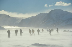 Snow-blown Runners on Antarctic Runway