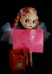 Extra Postage Required (tunibug) Tags: doll blythe eisley myfunnyvalentine minipostofficebox
