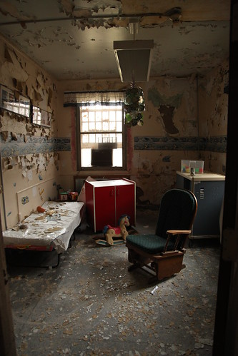 Dilapidated room in the children's ward