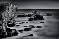 Shell Bch Long Exp. (Steve Corey) Tags: ocean ca longexposure sunset rocks action wave cliffs centralcoast shellbeach oceanspray nd10