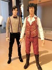 Shirtsleeves Doctors (jjm3) Tags: doctorwho actionfigures drwho tombaker iphone mattsmith fourthdoctor characteroptions sonicscrewdrivers eleventhdoctor