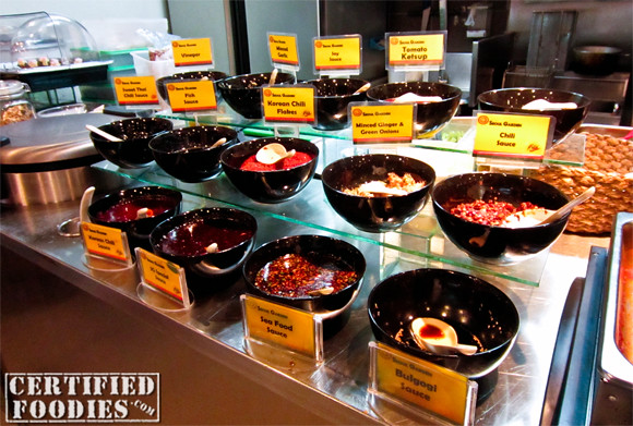 Selection of sauces at Seoul Garden in SM Annex - CertifiedFoodies.com