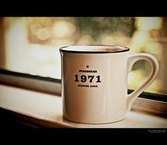 1971: a damn good year (with notes) (elmofoto) Tags: morning window coffee northerncalifornia 50mm 1971 dof awakening bokeh birth fav20 starbucks mug 40 norcal caffeine fav30 1000v fav10 fav40 elmofoto lorenzomontezemolo