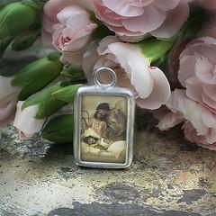 ANGE-GARDIEN-RETRO-CHARM (Alicja Radej Arte Ego) Tags: glass handmade oneofakind jewelery jewerly retrocharm