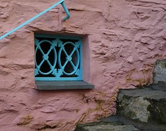 A pretty pink corner (Christine Winston) Tags: pink window wales portmeirion gwynnedd wfcportmeirion2012