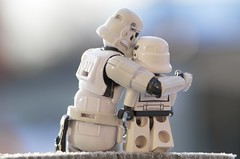 Comforting (Kalexanderson) Tags: family stilllife trooper love toys photography starwars play sweden stockholm father son stormtrooper emotions familylife ordinarylife realtions