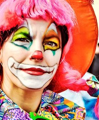 clown (Peter Arme) Tags: portrait people italy music color face festival photo nikon paint clown explore carnevale puglia flick photografy gargano d90 explored flickraward theunforgettablepictures flickrawardgallery
