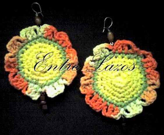 65a8e114c50b Aros  earrings (Entre Lazos) Tags  color texture textura mujer handmade  crochet moda artesanal