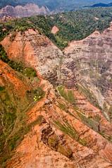 Aerial View of Kauai (ChrisInAK) Tags: aerial canyon forest green island kauai landscape orange outdoors remote tour tourism travel tropical tropics vacation wilderness