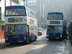 C894FON, C897FON - Coventry 2003 (Walsall1955) Tags: bus buses coventry westmidlandstravel metrobus twm mcw livery travelwestmidlands 2897 2894 metrocammell wmt metrocammellweymann mcwmetrobus travelcoventry wmpte westmidlandspte c897fon c894fon