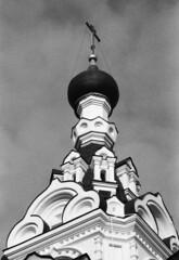 Церковь в Троице-Лыково (Москва) (Alexey Subbotin) Tags: church nikonf100 nikkor105 iforddelta3200 russia moscow autumn