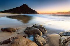 Zenith sunrise (Luke Tscharke) Tags: ocean longexposure sea mountain seascape wet water sunrise geotagged coast rocks waves nsw newsouthwales portstephens zenith zenithbeach shoalbay geo:lat=3272183896664581 geo:lon=1521843172096577