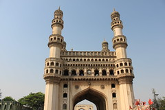 Charminar (Sandeep Santra(back again)) Tags: travel india building history architecture day place clear hyderabad 1001nights charminar islamicarchitecture incredibleindia mygearandme
