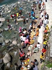 Chamunda Devi Temple (bodythongs) Tags: india canon river temple ixus april bathing himalaya hindu hinduism himachal mandir pradesh devi kangra worshippers palampur chamunda bodythongs