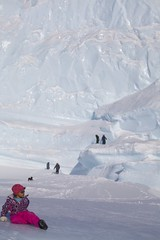 The Wall (Clare Kines Photography) Tags: canada ice children bay north scenic arctic inuit iceberg nunavut