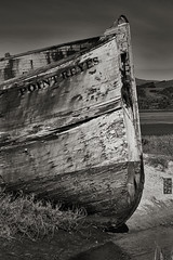 XII: Prow (doug_r) Tags: blackandwhite bw photoessay blancetnoir canon2870f28l canon5dmkii pacificaphoto fvpointreyes 20120302 2012rosenoffphotographyllcallrightsreserved img13426 xiiprow