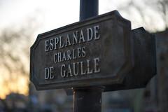 Esplanade Charles de Gaulle (www.Azety.fr) Tags: street sunset france 50mm montpellier 18 panneau languedoc hrault esplanadecharlesdegaulle d700 50mm14g