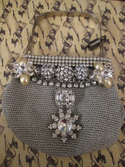 Vintage Purse Up-cycled! 6 (Lisa Kettell) Tags: vintage recycled designs jewels rhinestones oldpurse upcycled rhinestonejewelry vintagepurse lisakettell upcycledproject