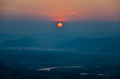 Magical wake up {Explore} (Alexandre Moreau | Photography) Tags: sunrise landscape thailand photo burma magical thaton {explore} wwwalexandremoreauphotocom