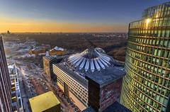 Sony Center (Fil.ippo) Tags: above light sunset berlin tramonto cityscape platz sony potsdamer sigma center 1020 hdr filippo berlino panoramapunkt d7000 filippobianchi