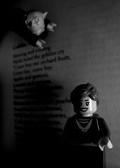 Christina Rossetti: 'One like a ratel tumbled hurry skurry...' 1 (Pickman's Paintbrush) Tags: blackandwhite bw lego writers goblin writer minifigs authors testshot christinarossetti goblinmarket legography legoauthor legoauthors legowriters legowriter