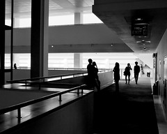 interior with figures I (donvucl) Tags: bw london architecture space silhouettes figures britishlibrary donvucl fujix100s
