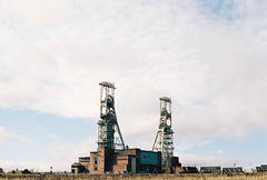 Clipstone Headstocks (Kym Ellis) Tags: poverty uk history industry mining petition society derelict strikes margaretthatcher thatcher coalmining headstocks
