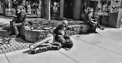 The Banjo Player (Sherlock77 (James)) Tags: people musician woman man calgary streetphotography banjo kensington busker