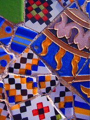 Barcelona mosaic by Gaudi (Marco Braun) Tags: barcelona color spain europa europe mosaic colores gaudi colored espagne farbig spanien mucho mosaik 2014 cataluna katalonien