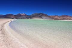 Salar de Aguas Calientes o de Talar - Desierto de Atacama - Chile (Made Bulkes) Tags: chile lake verde green volcano desert salt atacama desierto laguna salar sal altiplano volcan antofagasta