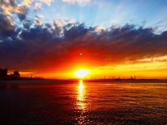 Por do sol na Praa Mau / Sunset in Praa Mau (Pablo Grilo) Tags: sunset pordosol brazil brasil riodejaneiro evening entardecer amazingsunset centrodorio amazingview museumoftomorrow pracamaua iphone6 museudoamanha centrodacidaderio
