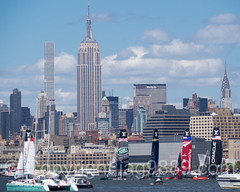 America's Cup World Series 2016, New York (jag9889) Tags: park usa building tower water sport skyline architecture race skyscraper river boat newjersey jerseycity apartments sailing unitedstates yacht outdoor unitedstatesofamerica nj sailors competition landmark architect condo esb hudsonriver empirestatebuilding bermuda chryslerbuilding luxury americascup challenger condominium condominiums waterway gardenstate worldseries libertystatepark louisvuitton defender metlifebuilding sailingboat lsp hudsoncounty 2016 rafaelvioly penciltower auldmug superskyscraper jag9889 432parkavenue 432park 20160508 americascupnewyork2016