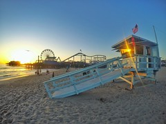 Santa Monica Beach, Los Angeles California (JOSE LUIS VELO) Tags: california sunset usa losangeles santamonica santamonicapier santamonicabeach unitesstates gopro goprohero4 goprohero4silver