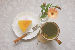 Cheese cake with Apricot jam (_A&8_) Tags: cheesecake apricot jam