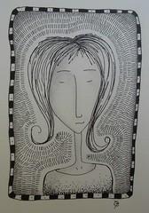 halo girl (catherine329) Tags: girl doodle zia penandink zendoodle