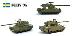 STRV 95 Heavy Tank (Matthew McCall) Tags: army war gun tank lego sweden military armor weapon turret oscillating