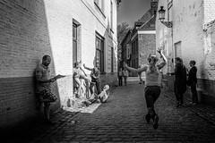 Street Fight.. (John Bastoen) Tags: street streetphotography scene act selfie straatfotografie