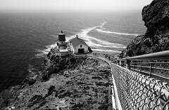 Echoes (TRI_ART_) Tags: california lighthouse white black lines point landscape us unitedstates leading inverness reyes