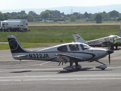 N322JR Cirrus SR22 (Aircaft @ Gloucestershire Airport By James) Tags: james airport gloucestershire lloyds cirrus sr22 egbj n322jr