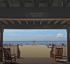 Buffington Pavillion (mblakephoto) Tags: ocean summer people beach water fun outdoors sand chairs capecod massachusetts rockingchairs pavillion cba iphone craigvillebeach craigvillebeachassociation