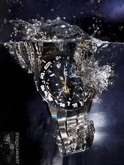 Splash! (rogueslr) Tags: water photoshop canon watch bubbles drop cc 5d splash seiko mkii 2015