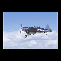 Warbird (KoenK68) Tags: blue sky clouds plane canon airplane slide aeroplane scan landing corsair prop warbird f4u singleengine changevought koenk68