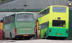NIW 1312 & H682 GPF (Nivek.Old.Gold) Tags: bus volvo coach ely 1991 1990 paramount citybus 3500 doubledeck plaxton barway b10m aptravel b10m60