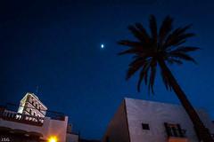 Nit a Dalt vila (ibzsierra) Tags: canon noche is luna ibiza 7d usm eivissa nuit palmera nigth campanario nit baleares moom 224105