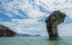 Sea stack, Bako National Park (tik_tok) Tags: ocean water coast asia hiking jungle sarawak malaysia borneo southchinasea rockformations seastacks bakonationalpark