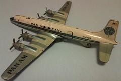 TOMIYAMA + YONEZAWA DC7 - Medium - Pan American (NyamalaTone) Tags: vintage airplane toy tin collectible flugzeug jouet avion juguete hojalata tinplate blechspielzeug