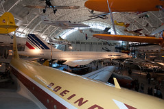 707 and Concorde (stevesheriw) Tags: smithsonian nationalairandspacemuseum udvarhazy chantilly virginia boeing 707 airplane airfrance concorde sst supersonic fbvfa