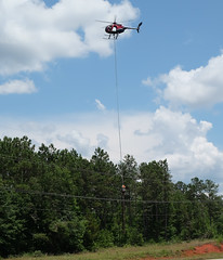 Hwy 280 Trimming (Chris Usrey) Tags: flying cool dangerous power aviation line helicopter maintenance exciting httpwwwrotorbladecom
