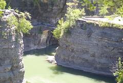160614 Rescuers on the Footbridge near Lower Falls Overlook (BY Chu) Tags: newyork lowerfalls genesee geneseeriver letchworthsp thegorgetrail